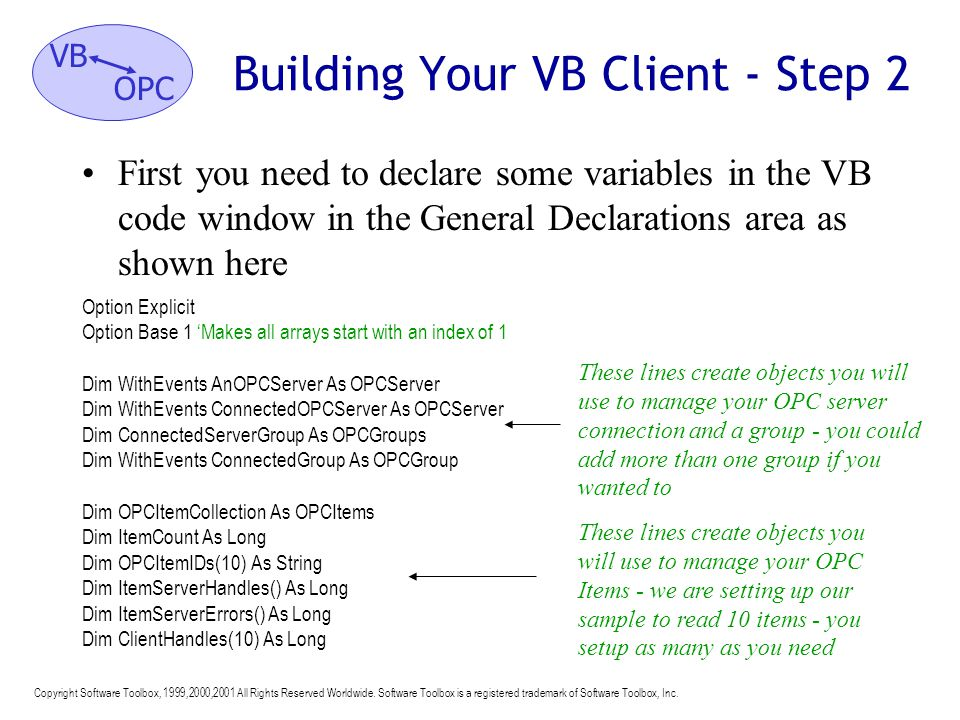 Building Your VB Client - Step 2