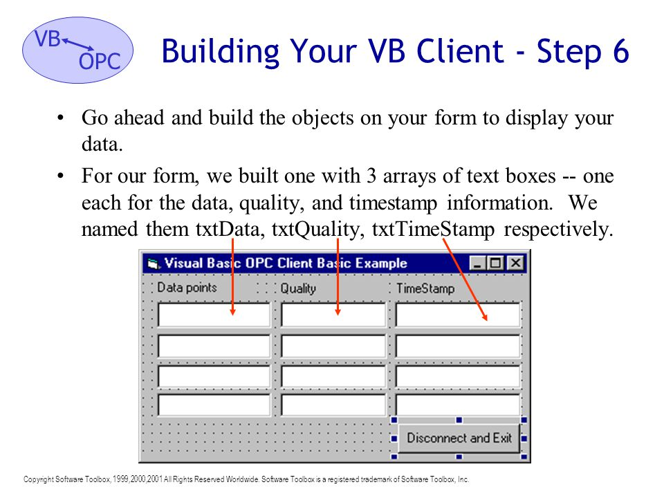 Building Your VB Client - Step 6