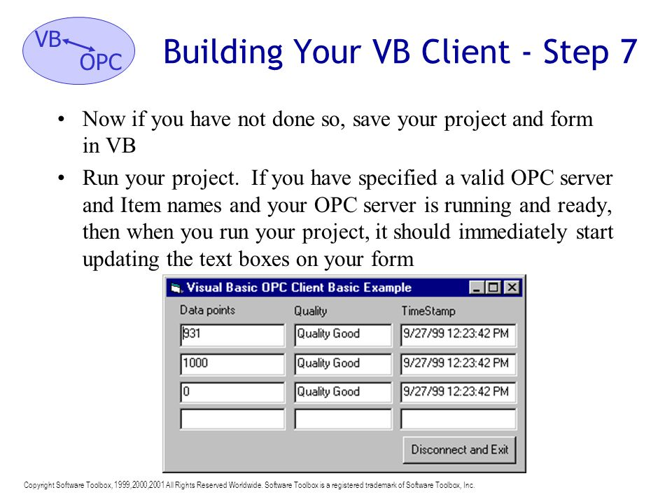 Building Your VB Client - Step 7