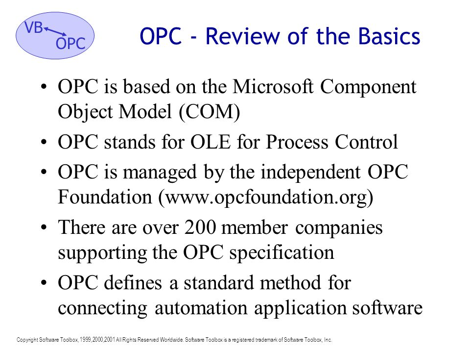 OPC - Review of the Basics