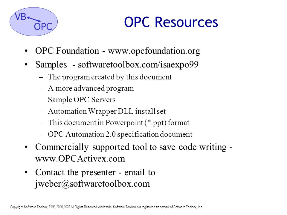 OPC Resources OPC Foundation - www.opcfoundation.org