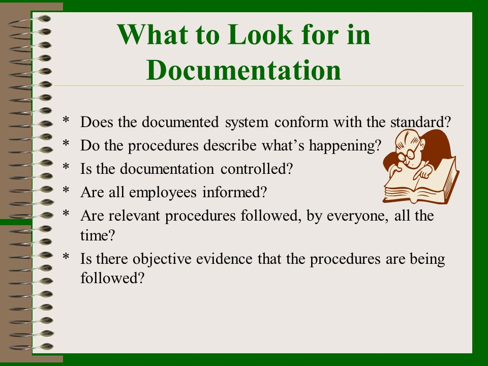What to Look for in Documentation
