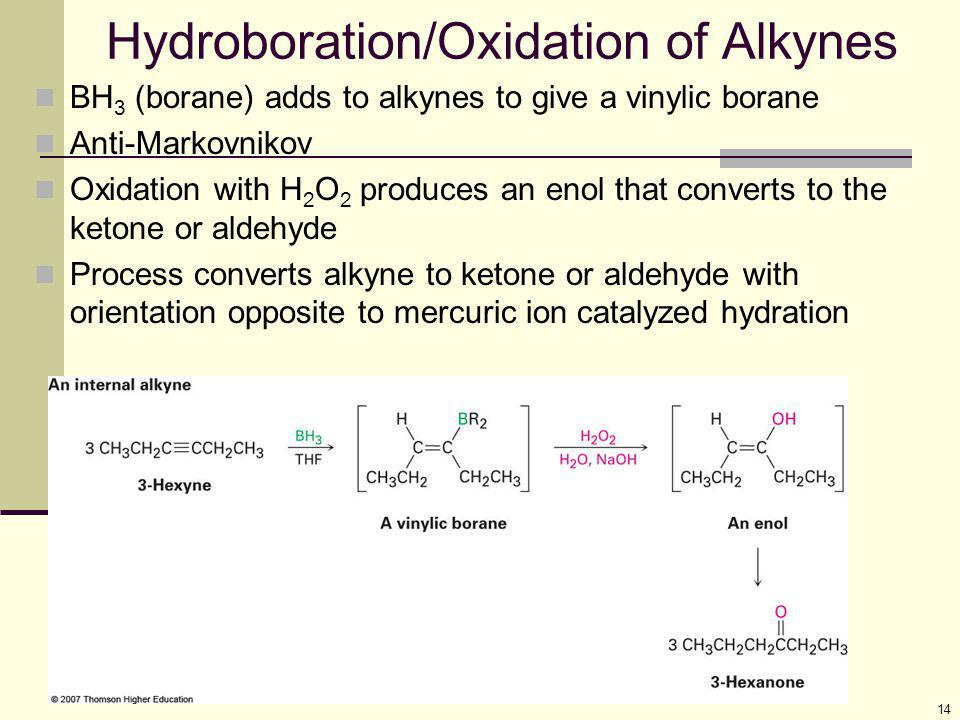 Hydroboration/Oxidation of Alkynes