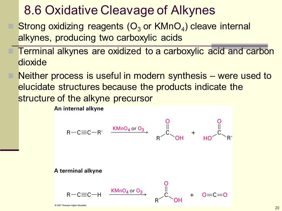 8.6 Oxidative Cleavage of Alkynes