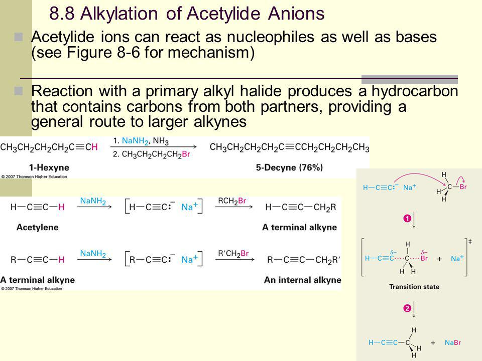 8.8 Alkylation of Acetylide Anions