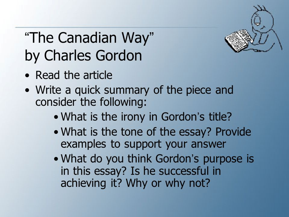 The Canadian Way by Charles Gordon