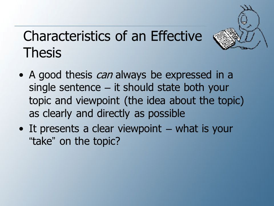 Characteristics of an Effective Thesis