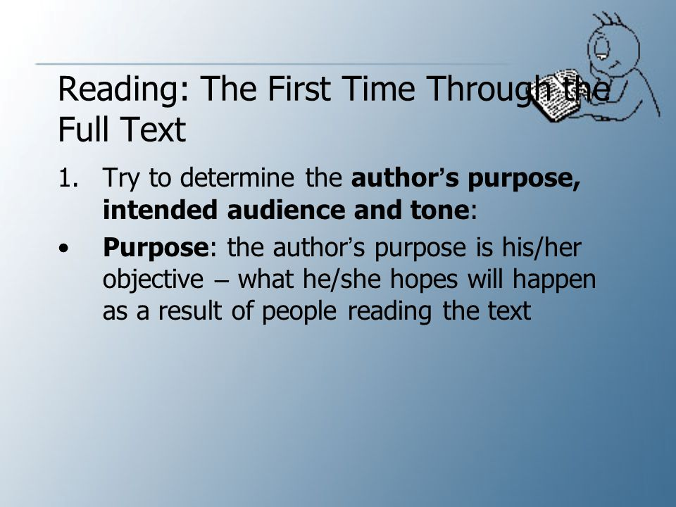 Reading: The First Time Through the Full Text