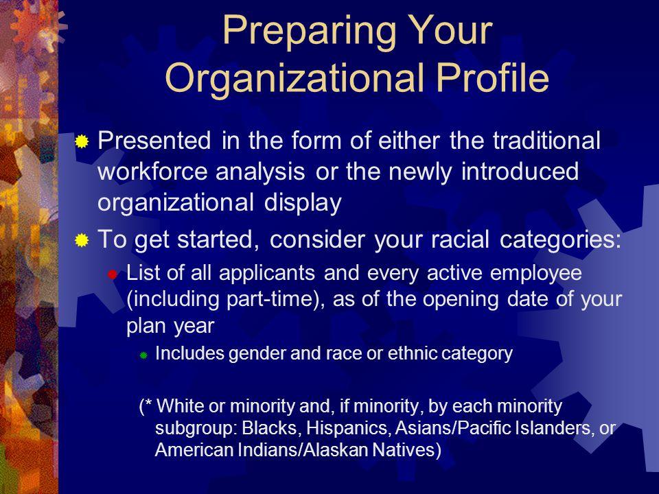 Preparing Your Organizational Profile