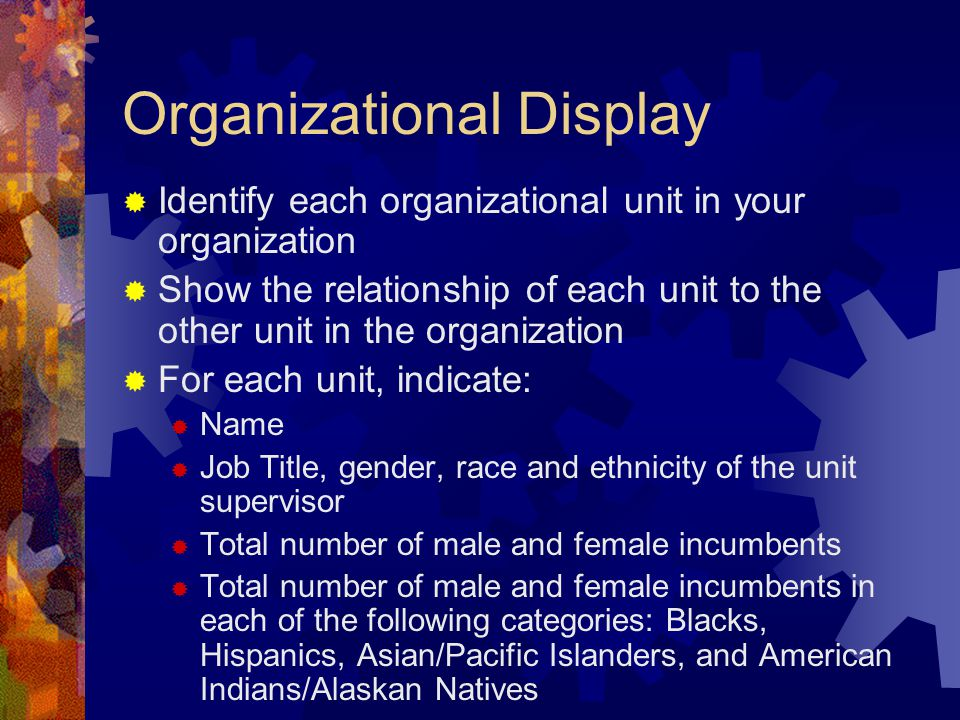 Organizational Display