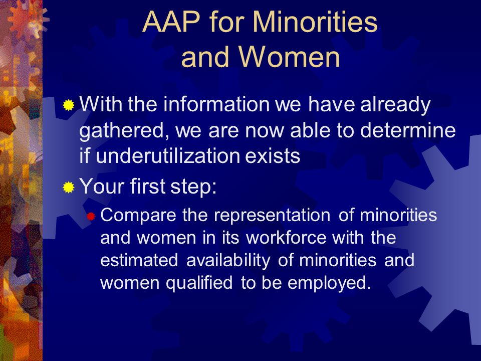 AAP for Minorities and Women