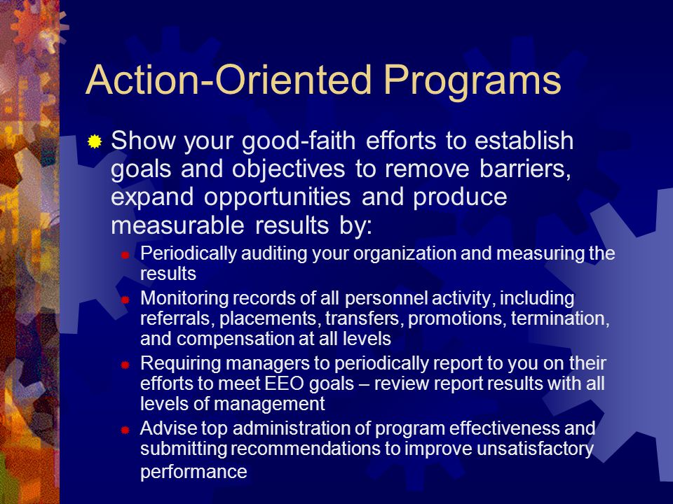 Action-Oriented Programs