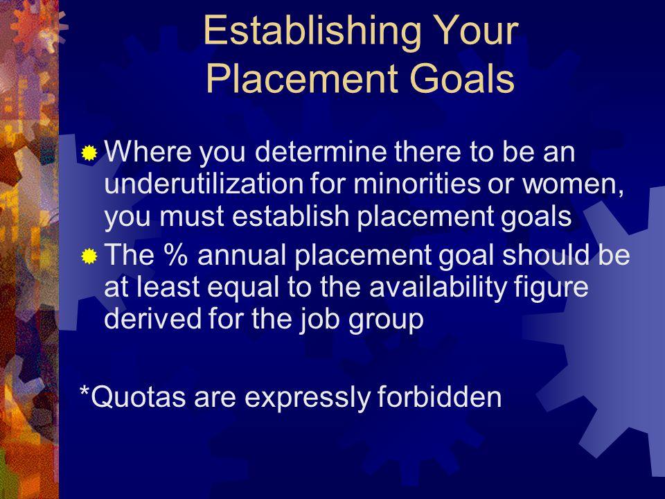 Establishing Your Placement Goals