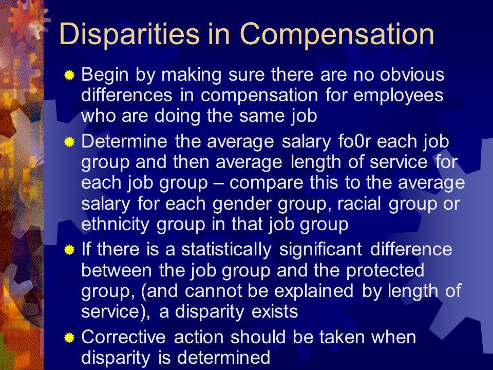 Disparities in Compensation