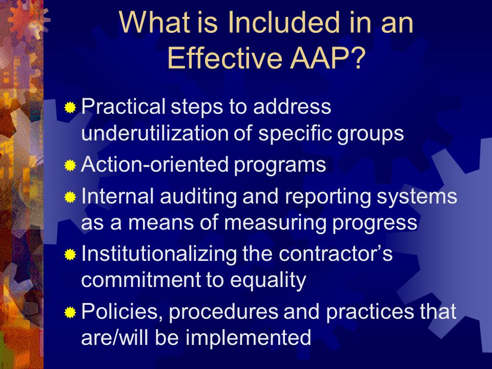 What is Included in an Effective AAP