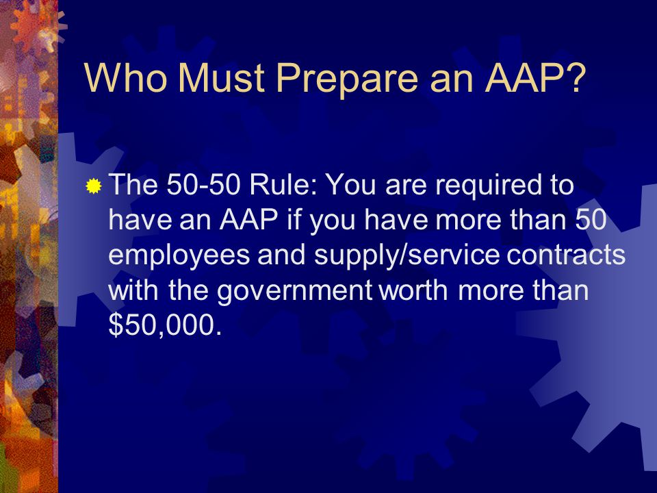 Who Must Prepare an AAP