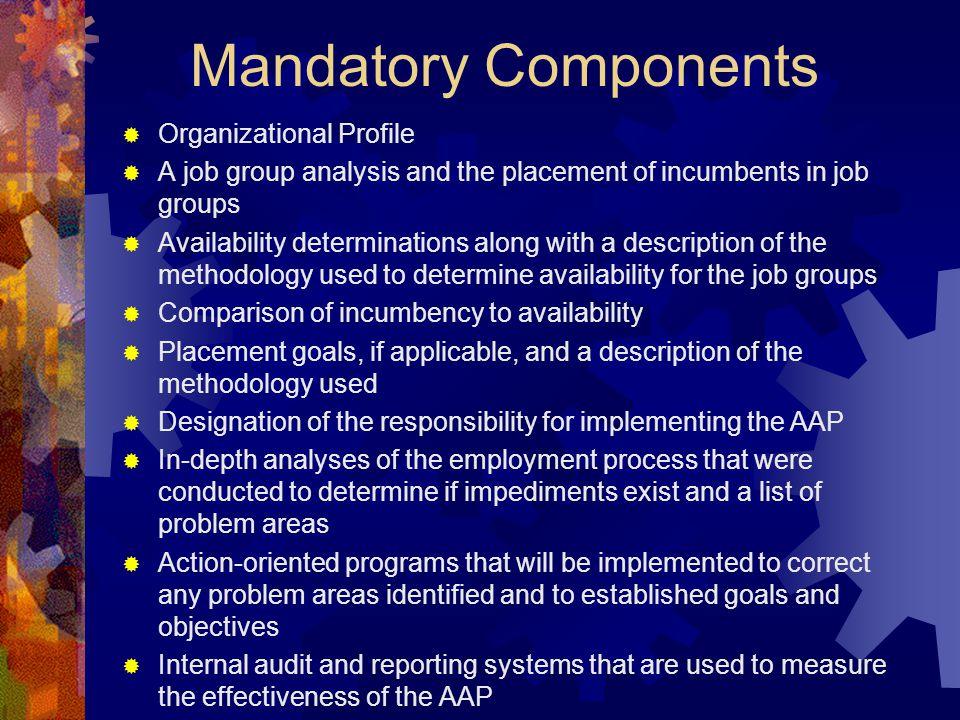 Mandatory Components Organizational Profile