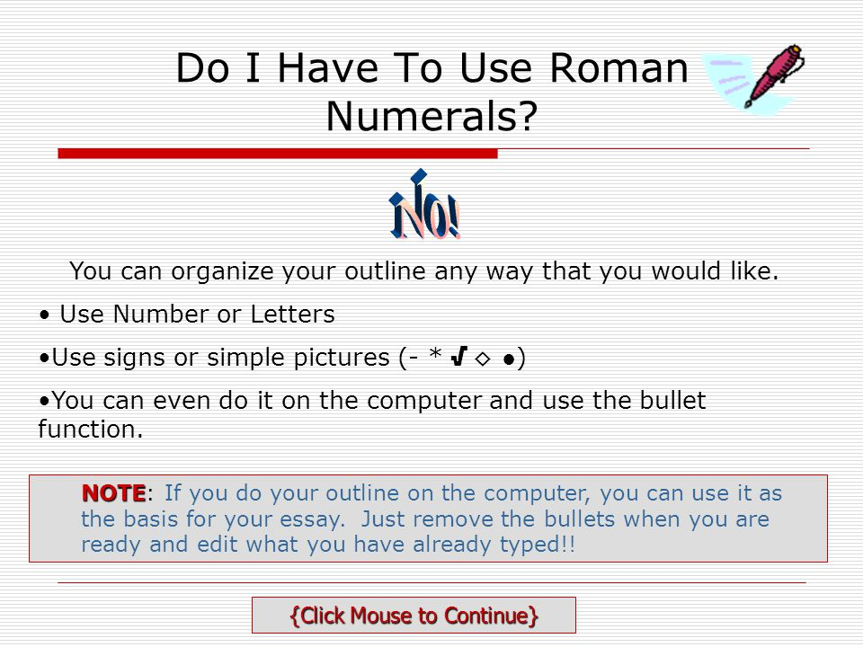 Do I Have To Use Roman Numerals