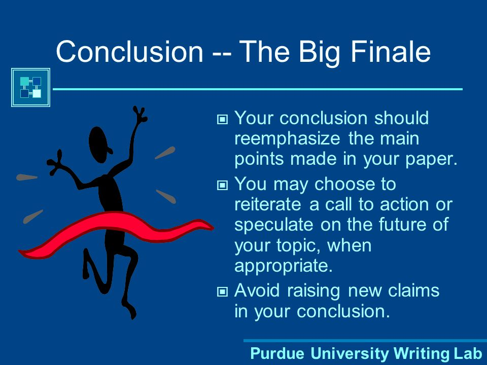 Conclusion -- The Big Finale