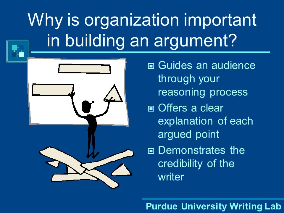 Why is organization important in building an argument