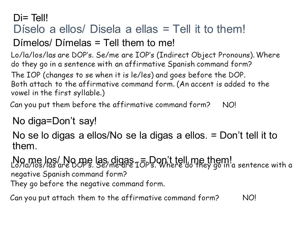 Díselo a ellos/ Disela a ellas = Tell it to them!