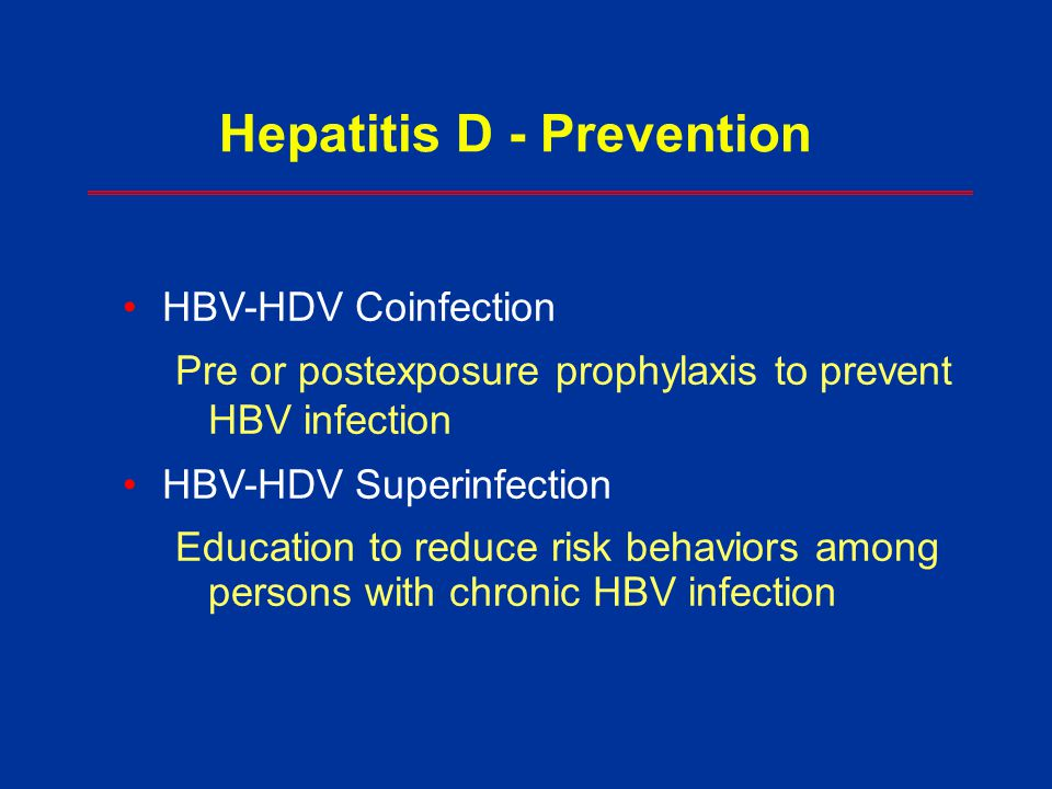 Hepatitis D - Prevention