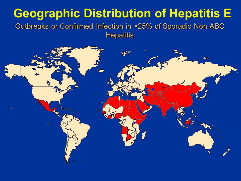 Geographic Distribution of Hepatitis E