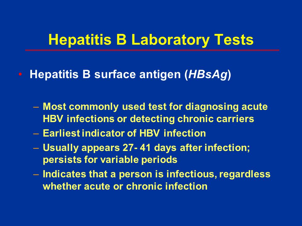 Hepatitis B Laboratory Tests