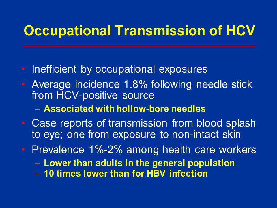 Occupational Transmission of HCV
