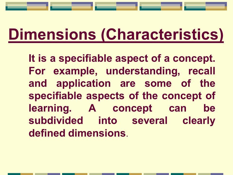 Dimensions (Characteristics)