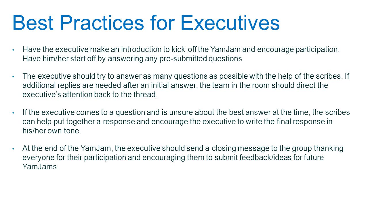 Best Practices for Executives
