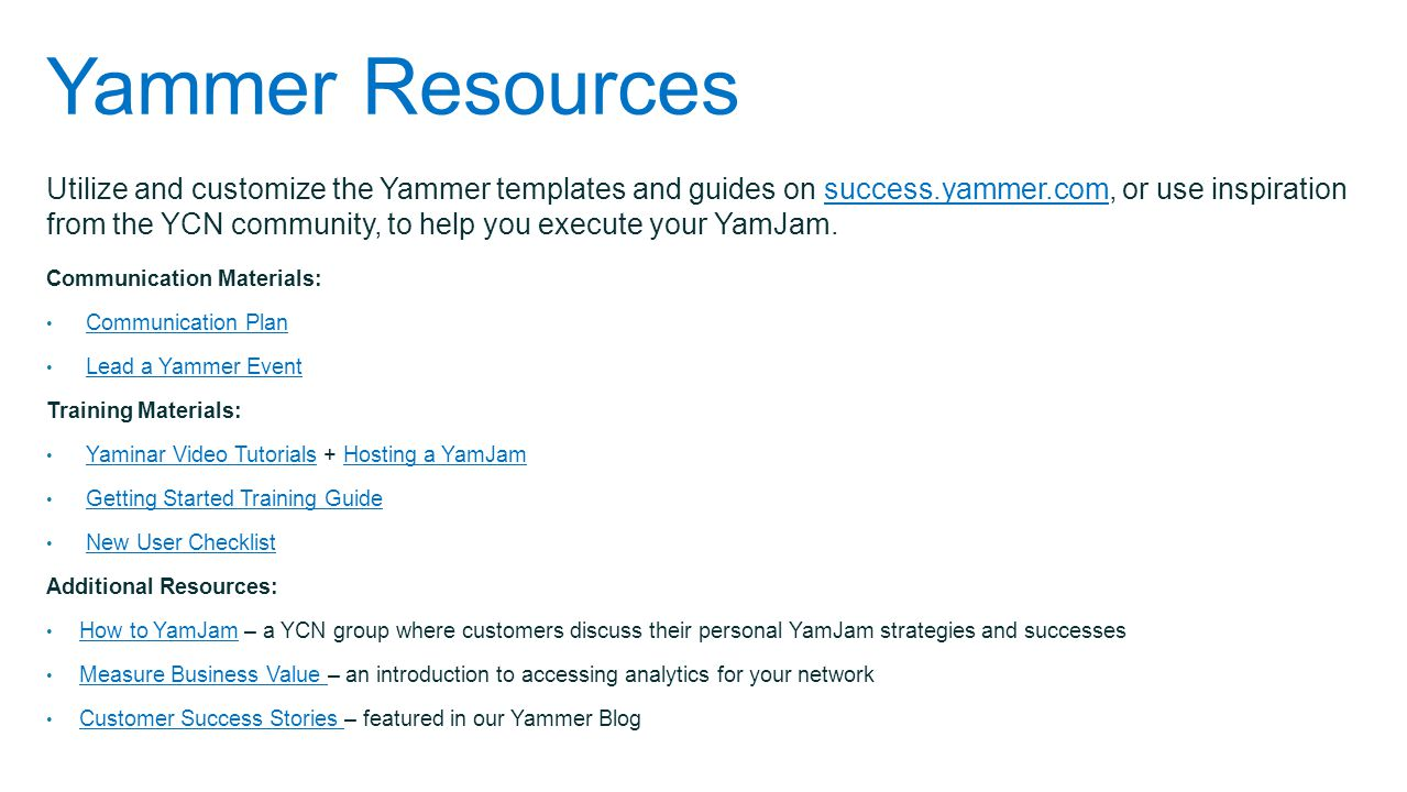 Yammer Resources
