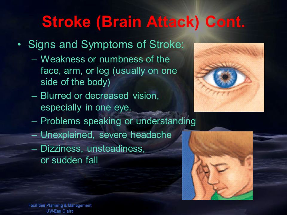 Stroke (Brain Attack) Cont.