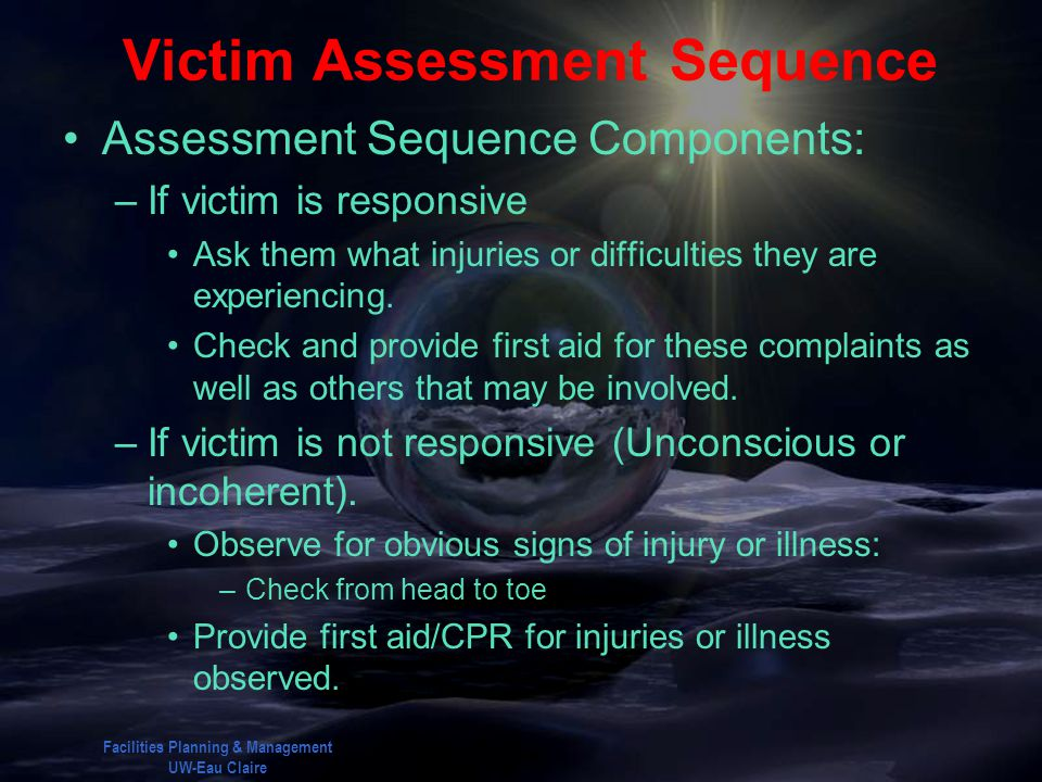 Victim Assessment Sequence