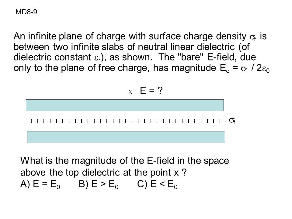 A) E = E0 B) E > E0 C) E < E0