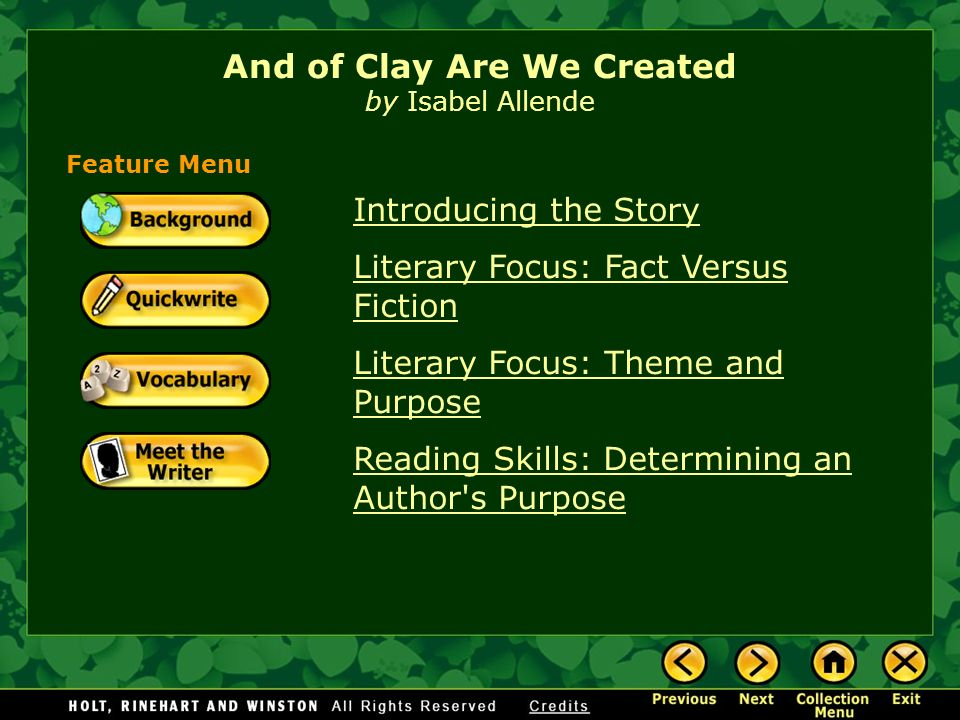 and of clay are we created answers
