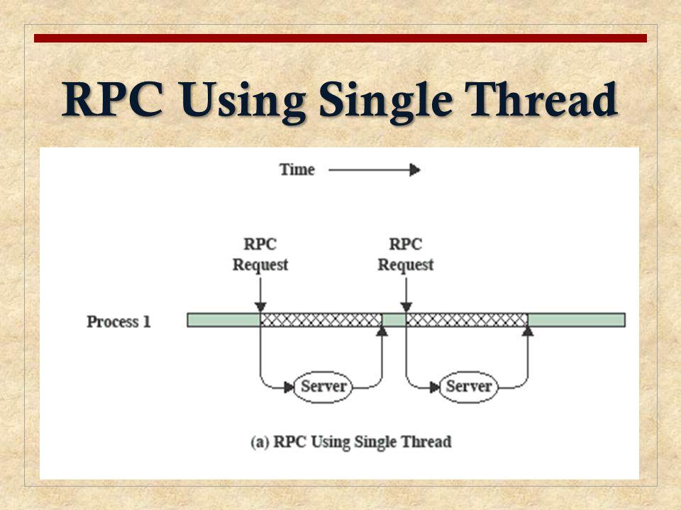RPC Using Single Thread