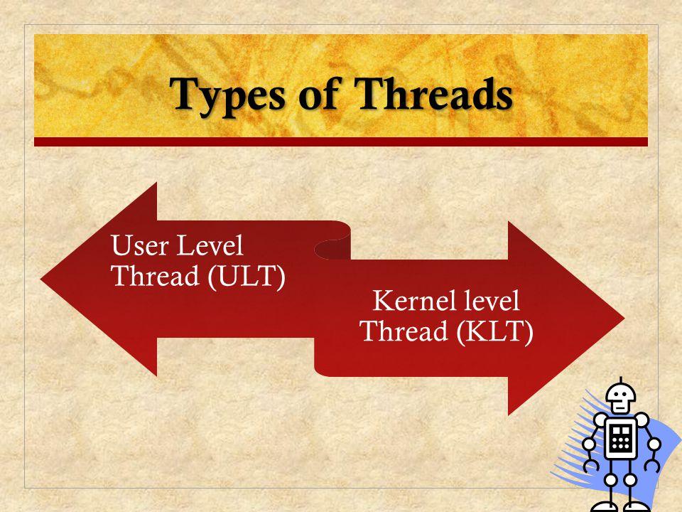 Kernel level Thread (KLT)
