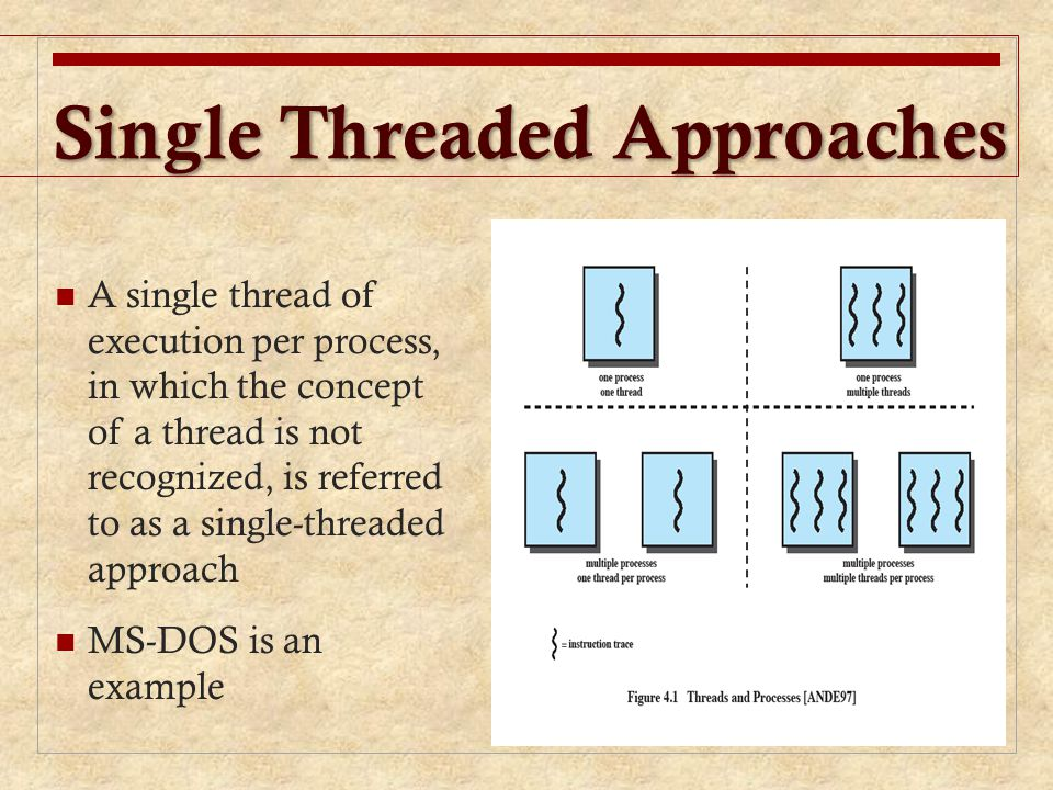 Single Threaded Approaches