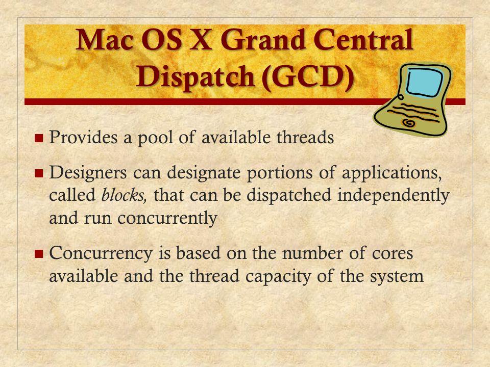 Mac OS X Grand Central Dispatch (GCD)