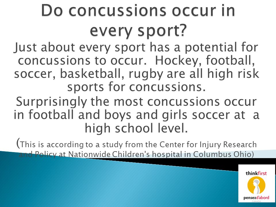Do concussions occur in every sport