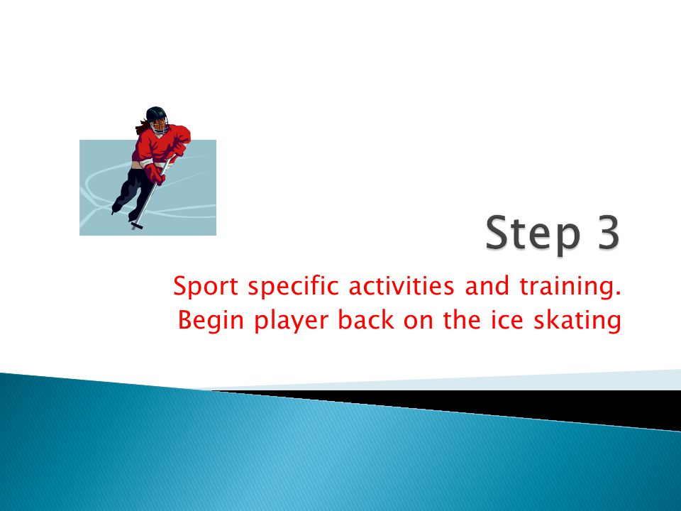 Step 3 Sport specific activities and training.