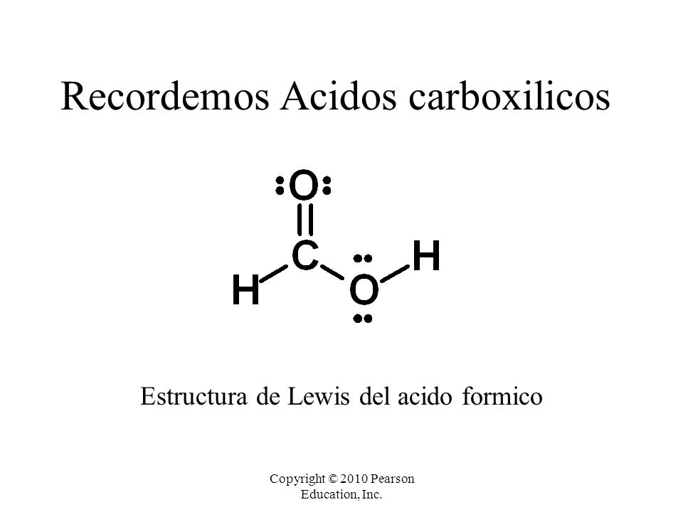 Recordemos Acidos carboxilicos