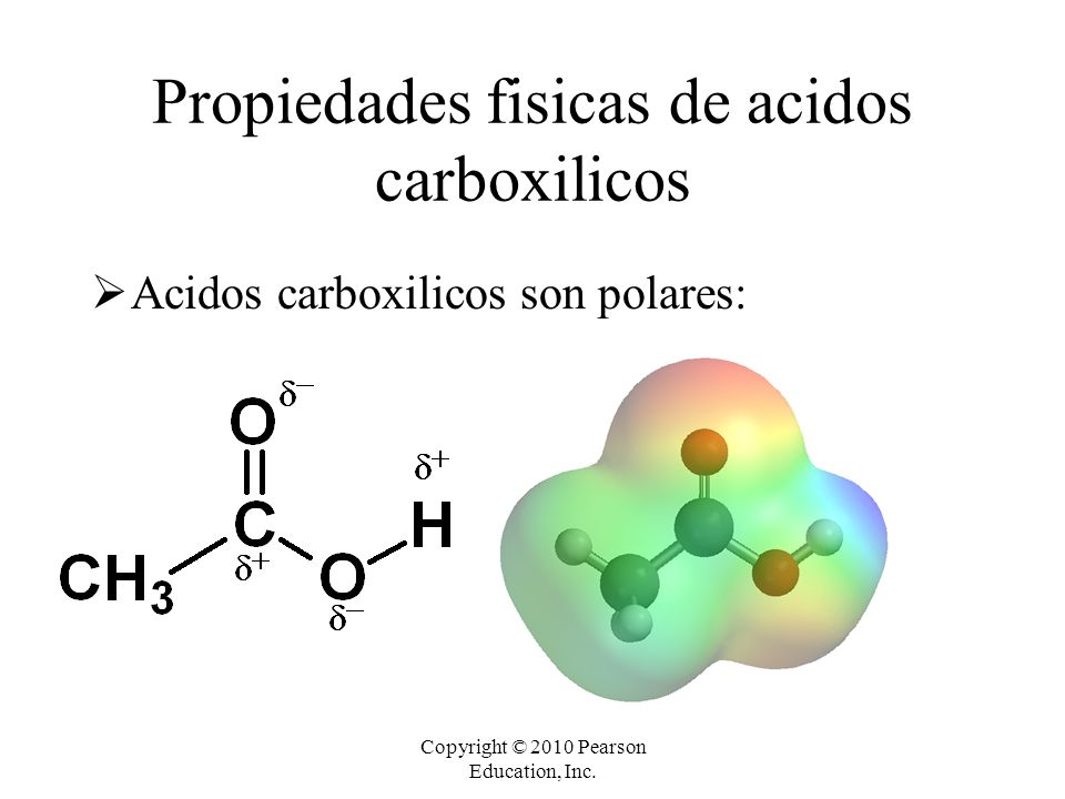 Propiedades fisicas de acidos carboxilicos