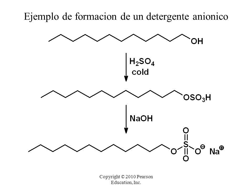 Ejemplo de formacion de un detergente anionico