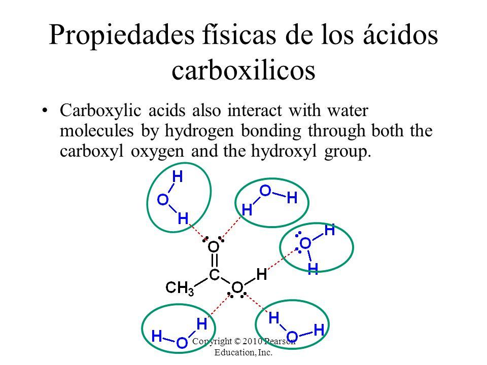 Propiedades físicas de los ácidos carboxilicos