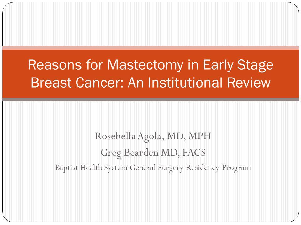 Baptist Health System General Surgery Residency Program