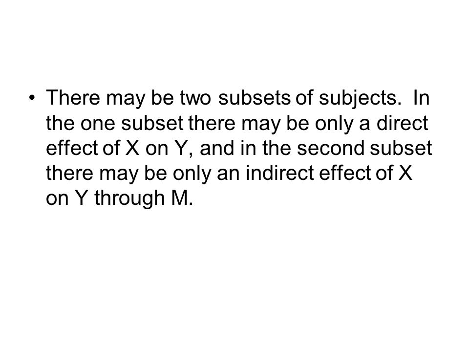 There may be two subsets of subjects