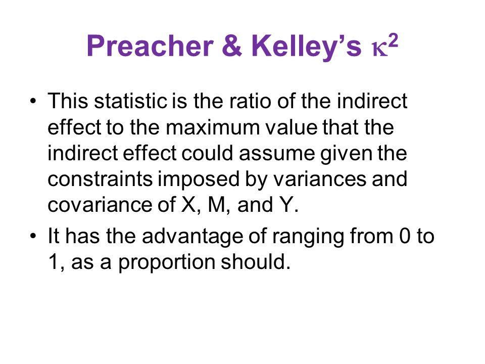 Preacher & Kelley's 2