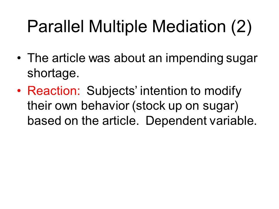 Parallel Multiple Mediation (2)